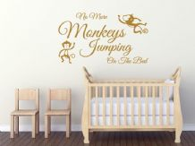 "Child's Wall Quote ""No More Monkeys.."", Wall Art Sticker, Vinyl Decal, Transfer."
